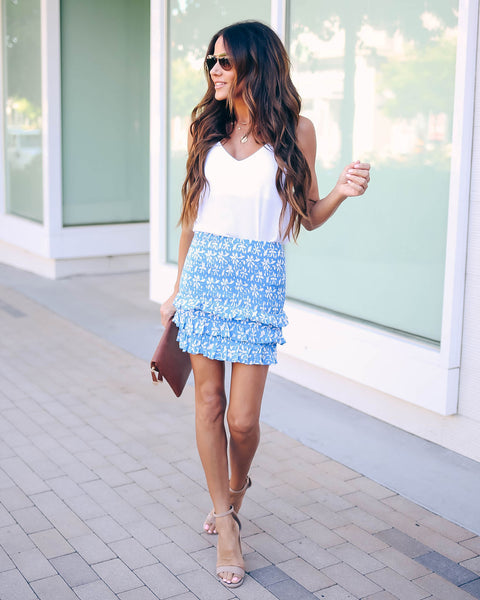 Des Moines Smocked Ruffle Mini Skirt - FINAL SALE