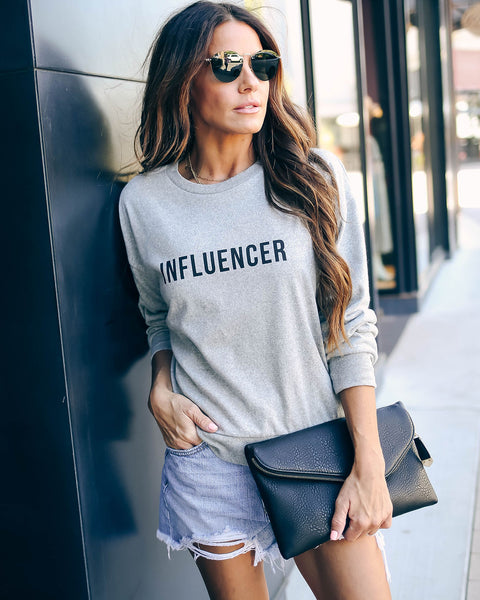 Influencer Cotton Blend Pullover