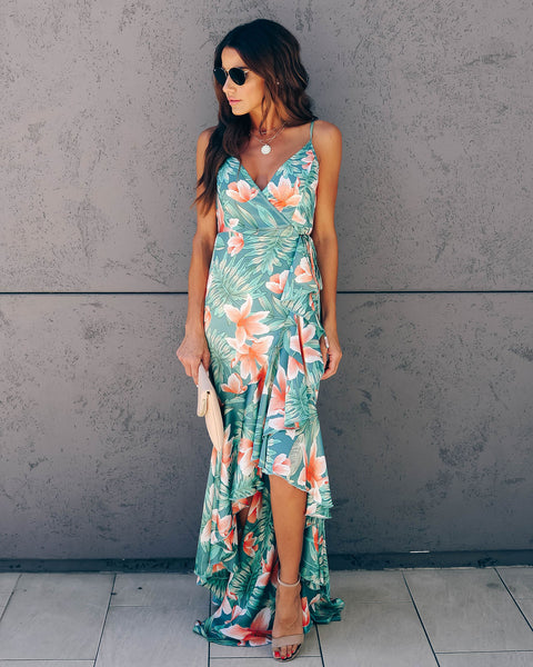Nikita Tiered Ruffle Wrap Maxi Dress