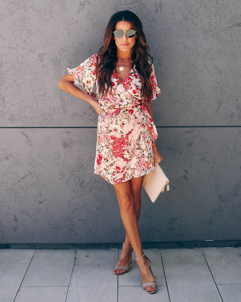 Adoration Floral Wrap Dress - FINAL SALE