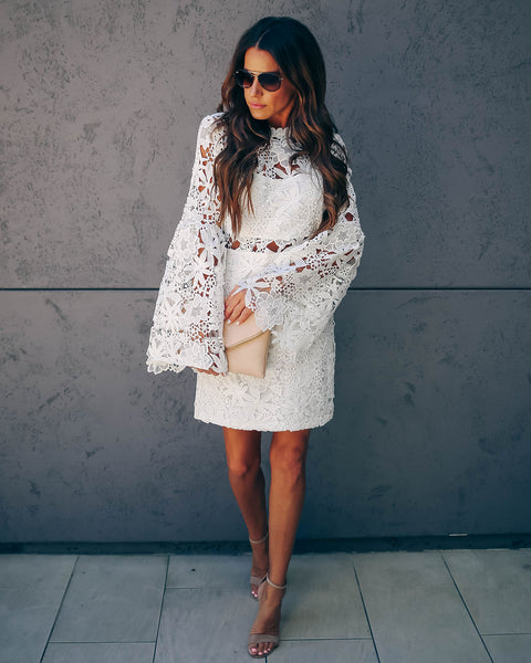 Revel Lace Bell Sleeve Dress - FINAL SALE
