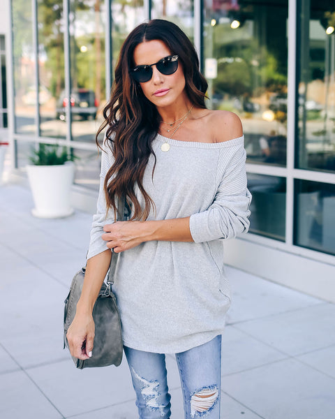 Jalen Contrast Ribbed Knit Top