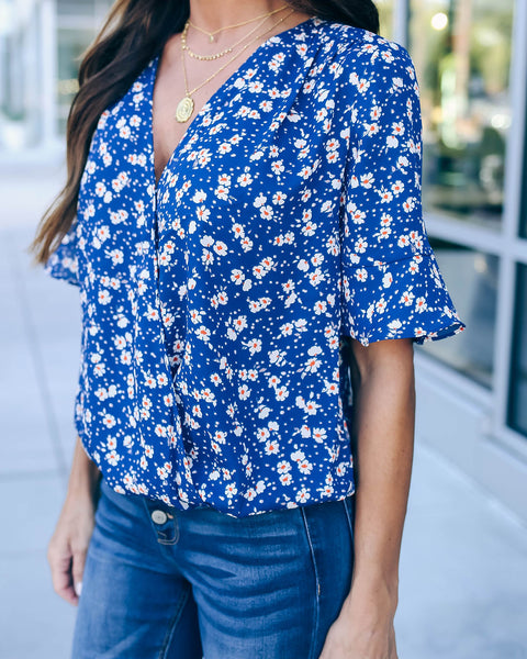 Petal To The Metal Drape Blouse - FINAL SALE