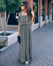 Through The Night Pocketed Tie Maxi Dress - FINAL SALE