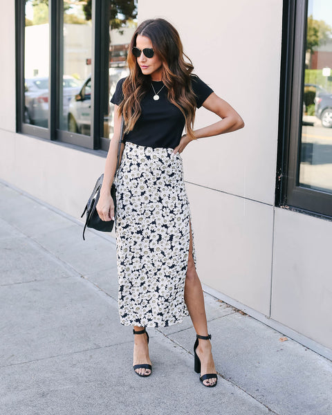 Moments Unforgettable Floral Midi Skirt - FINAL SALE