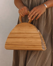 Maldives Wooden Handbag - Natural view 1