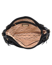 Angelica Faux Leather Crossbody Handbag - Black view 4