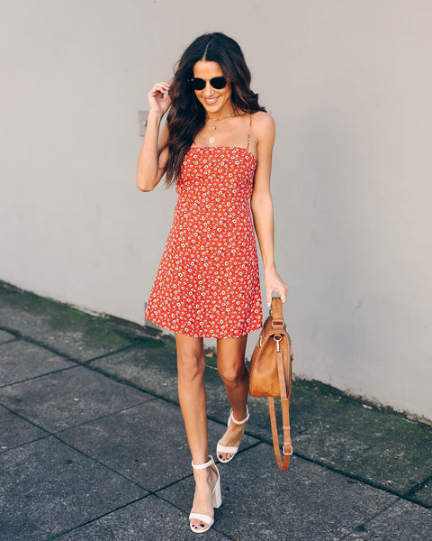 Charleigh Floral Tie Mini Dress