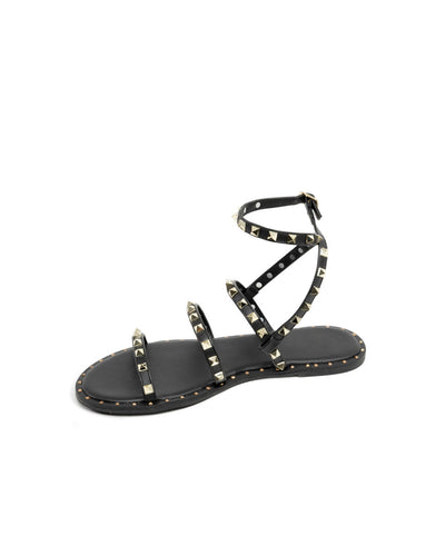 Venus Studded Strappy Sandal - Black