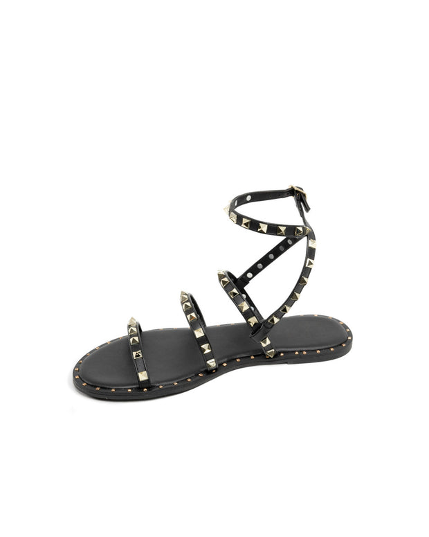 Venus Studded Strappy Sandal - Black view 3