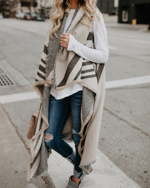 Colorado Plaid Fringe Vest