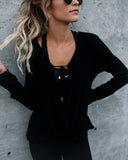 Barrow Drape Top - Black