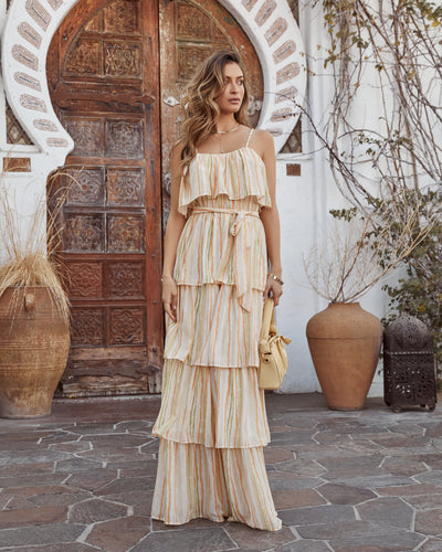 Living Good Ruffle Tiered Maxi Dress