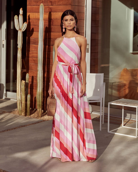 Sunset Soiree Striped Maxi Dress - FINAL SALE