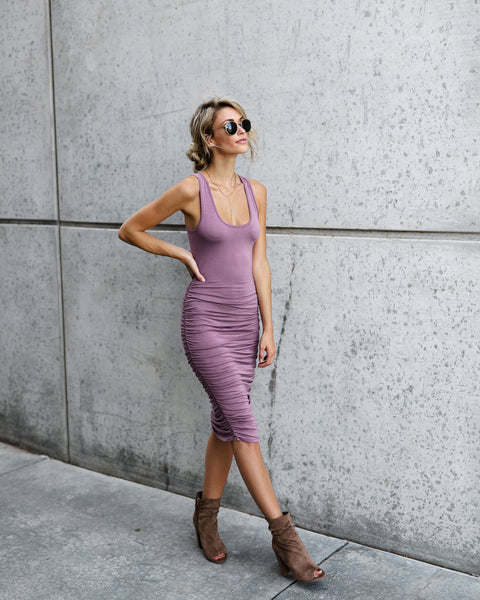 Take It Easy Dress - Mauve