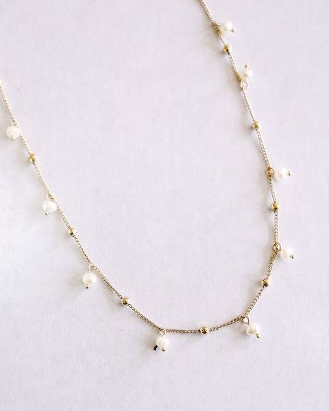 OLIVE + PIPER - Pearl Dot Necklace