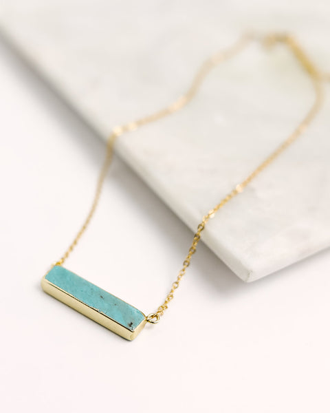 MEGHAN BO DESIGNS - The Turquoise Bar Necklace
