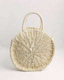 Costa Straw Handbag - Light Natural - FINAL SALE