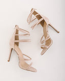 Kimmie Faux Suede Heel - Nude