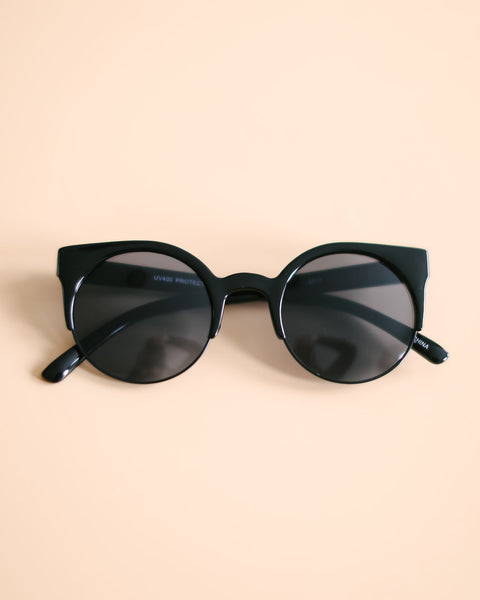 Too Cool Sunglasses - Black/Black