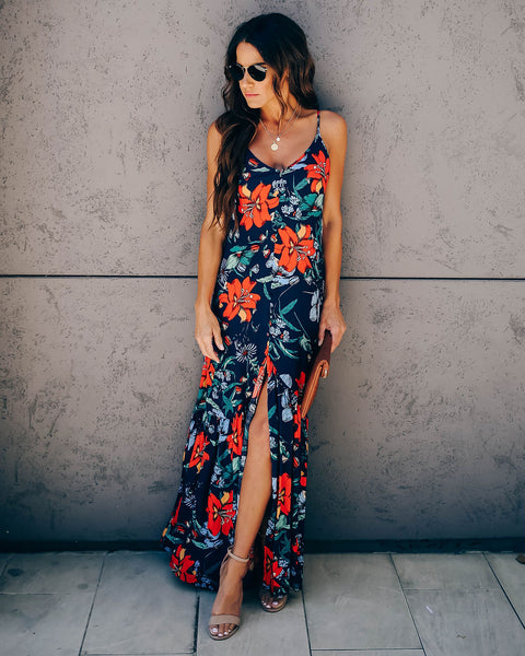 Flwr Shop Ruffle Tie Back Maxi Dress - FINAL SALE