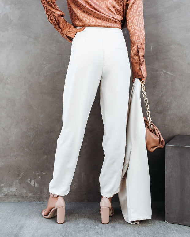 Vicinity Pocketed High Rise Trousers - Bone view 2