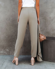 Vicinity Pocketed High Rise Trousers - Pistachio view 2