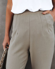 Vicinity Pocketed High Rise Trousers - Pistachio view 4