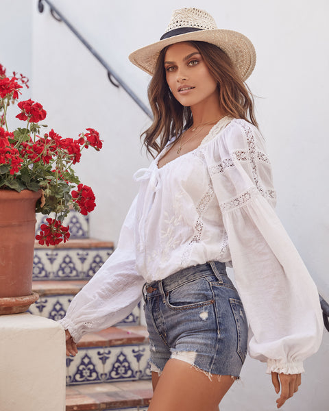 Maria Maria Lace Blouse - FREE PEOPLE - FINAL SALE