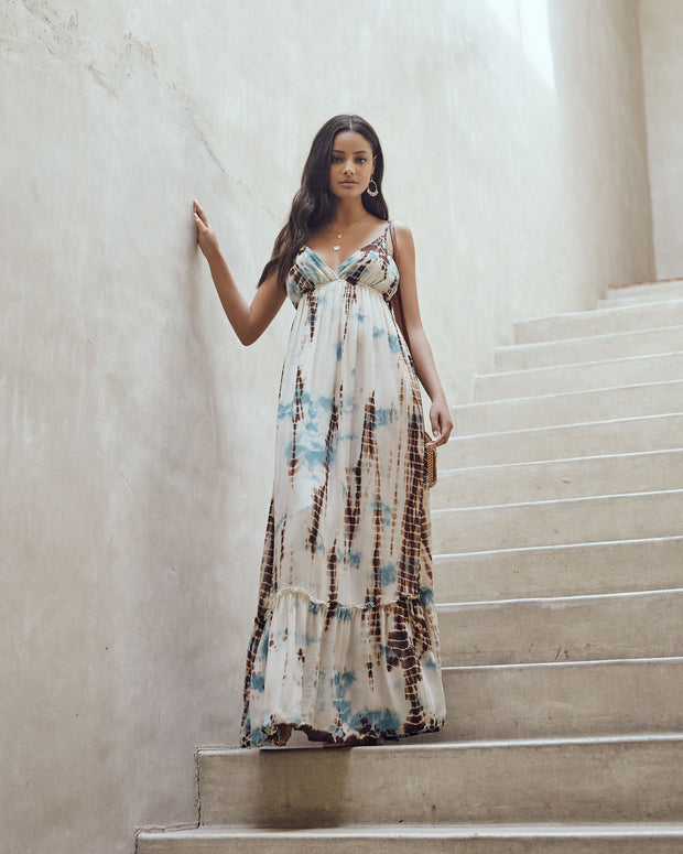 Wondrous Waters Tie Dye Adjustable Maxi Dress - FINAL SALE