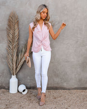 Waka Sleeveless Twist Blouse - Blush view 6