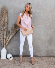 Waka Sleeveless Twist Blouse - Blush view 8