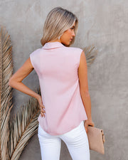 Waka Sleeveless Twist Blouse - Blush view 2