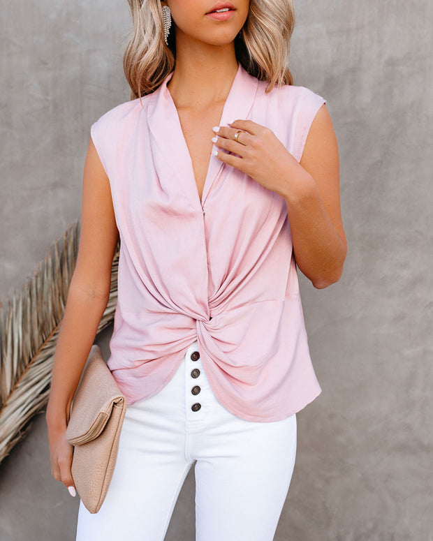 Waka Sleeveless Twist Blouse - Blush view 7