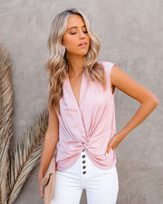 Waka Sleeveless Twist Blouse - Blush view 1