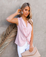 Waka Sleeveless Twist Blouse - Blush view 5