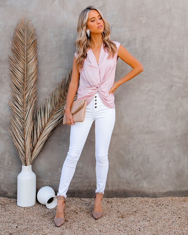 Waka Sleeveless Twist Blouse - Blush view 9