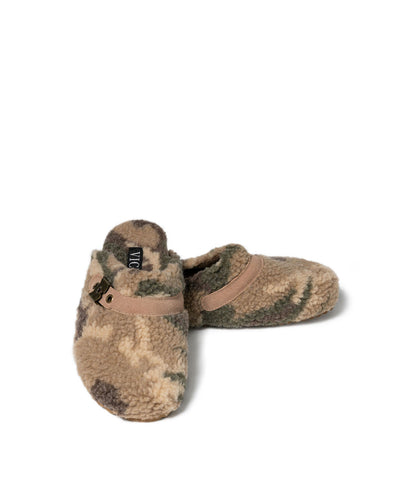 Warren Sherpa Buckle Clogs - Camo