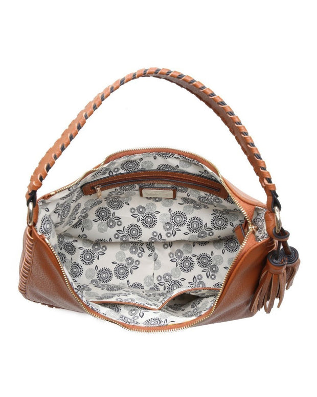 Waverly Faux Leather Hobo Bag - Tan view 4