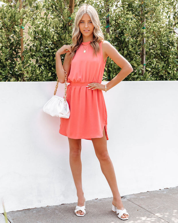 We Find Love Sleeveless Dress - Guava view 8