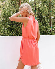 We Find Love Sleeveless Dress - Guava view 2