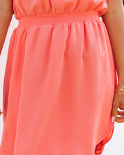 We Find Love Sleeveless Dress - Guava view 4
