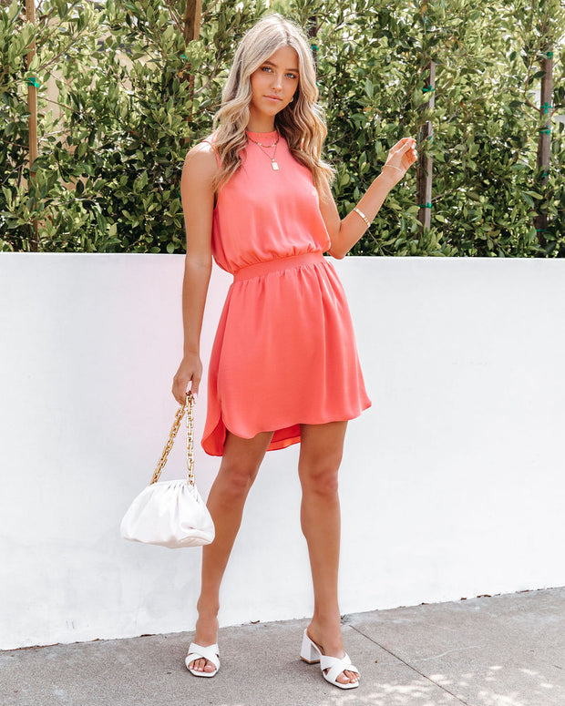 We Find Love Sleeveless Dress - Guava view 1