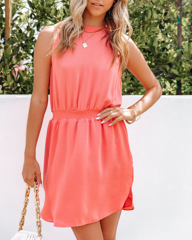We Find Love Sleeveless Dress - Guava view 5