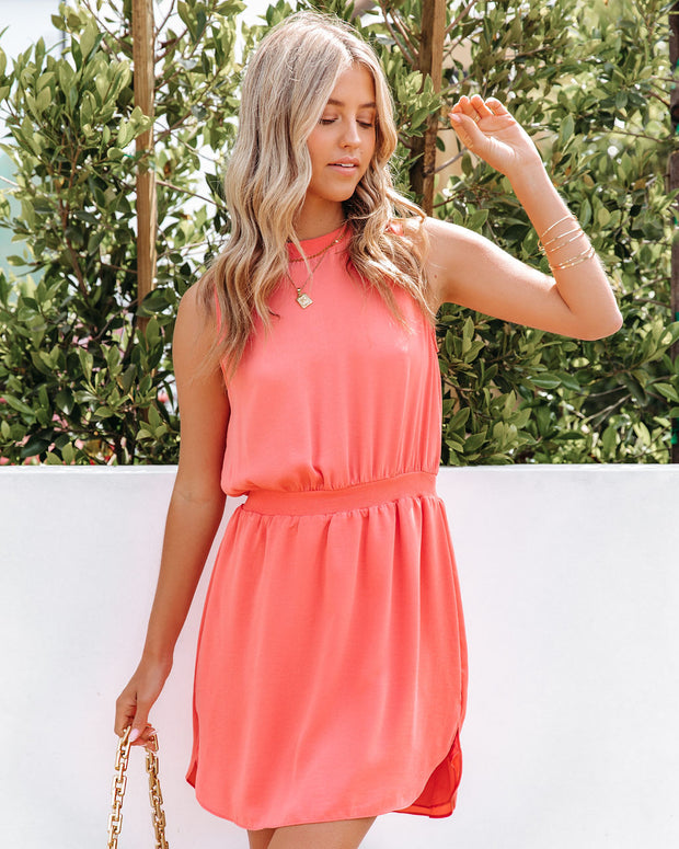 We Find Love Sleeveless Dress - Guava view 9