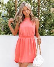 We Find Love Sleeveless Dress - Guava view 3
