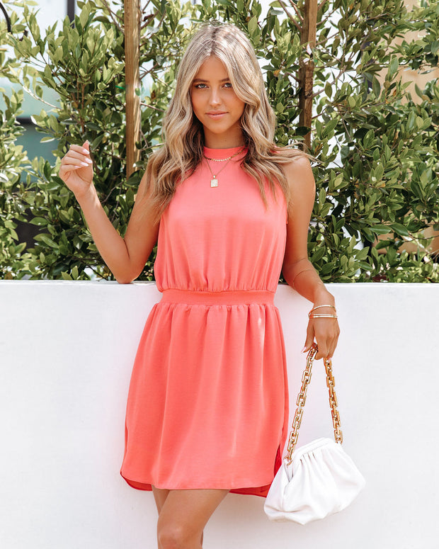 We Find Love Sleeveless Dress - Guava view 7