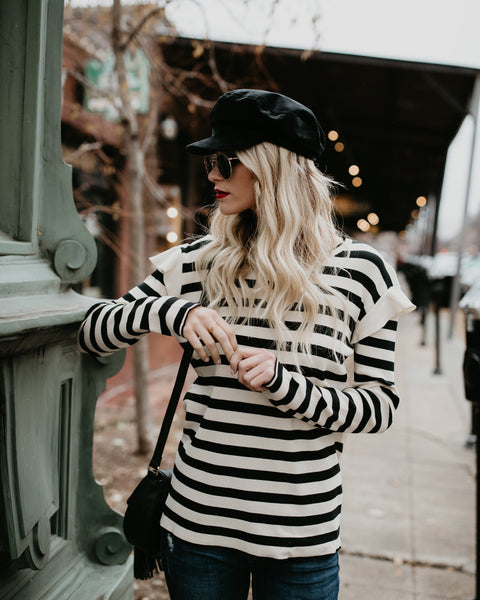 Amour Striped Sweater