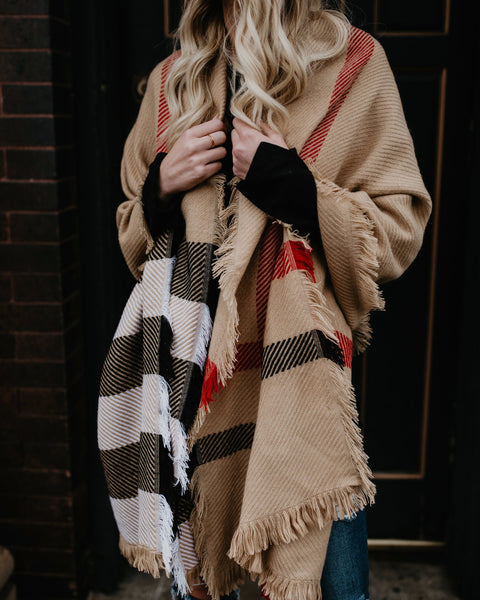 PREORDER - Churchill Plaid Blanket Scarf