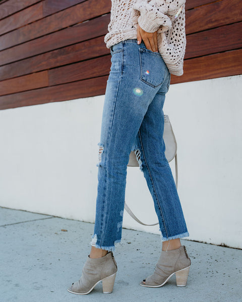 Wesley Relaxed Cotton Distressed Denim - FLASH SALE